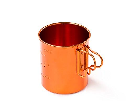 GSI Outdoors Bugaboo Folding Handle Cup - 414 ML (Orange)