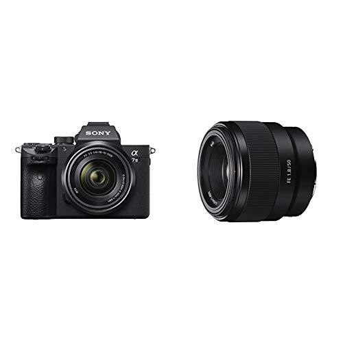 Sony Alpha 7III ILCE7M3/A7M3, Appareil Photo Hybride Numérique Plein Format, Kit A7M3K, Boîtier Nu + Objectif 28-70 mm & SEL 50-F18F Objectif 50 mm Ouverture F1.8 pour Monture E Sony