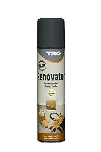 TRG The One - Spray Renovador para calzado de Ante, Nubuck y Microfibra   Disponible en 8 colores   #106 Marrón Oscuro, 250ml
