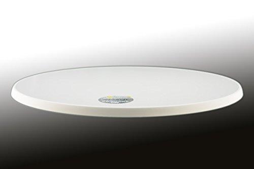 Sevelit Tischplatte weiß, rund, 700mm Durchmesser, wetterfest, schlagfeste Tischkante, Tischplatten ideal als Ersatzteil und zum Nachrüsten
