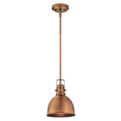 Westinghouse Lighting Lámpara de Techo Colgante de 1 Luz E27, Washed copper