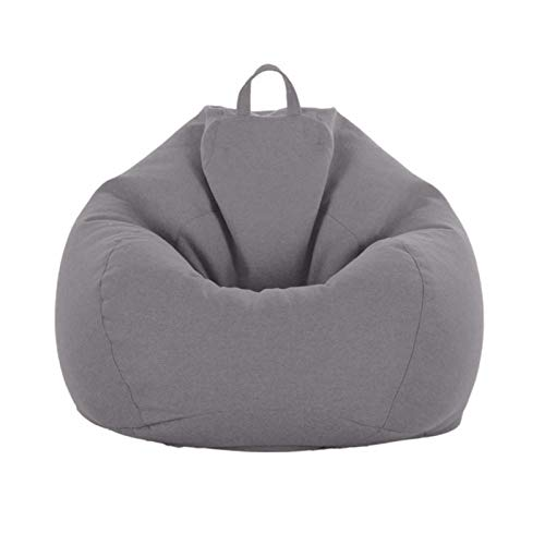 Tongdejing Linen Bean Bag Chair Cover (No Filler), 3 Size Beanbag Bean Bag Sofa Cover Washable Playroom Ergonomic Lazy Lounger Cover for Teen Adult