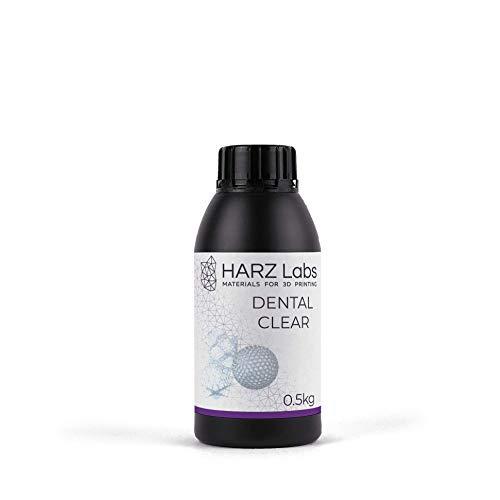 HarzLabs resina DENTAL CLEAR - 0,5KG [para guías quirúrgicas y modelos maestros, guías] …