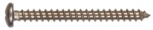 The Hillman Group 823348 Stainless Steel Pan Head Phillips Sheet Metal Screw, 14-Inch x 3-Inch, 50-Pack