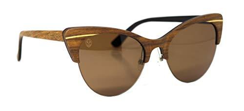 Óculos de Sol Saro, Mafia Wood Exclusive Wear, Feminino, , M