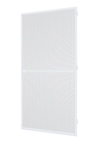 Windhager Insektenschutz Spannrahmen-Tür Plus, Fliegengitter Alurahmen für Türen, individuell kürzbar, 100 x 210 cm, weiß, 03727