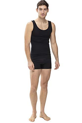 Mey Basics Serie Casual Cotton Herren Shirts 1/1 Arm 49100, Schwarz, 7