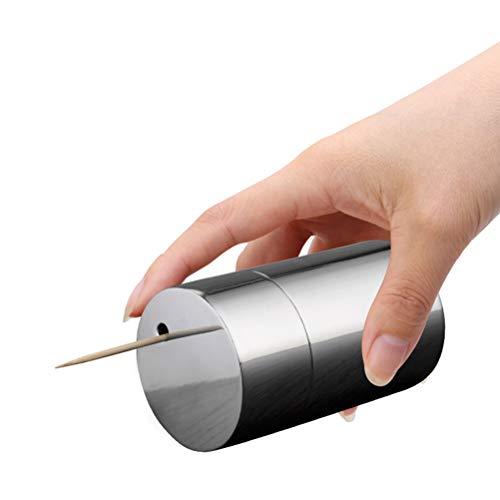 Jourbon Zahnstocherspender Spiegelleuchte Zahnstocherhalter Edelstahl Zahnstocher Halter Dispenser Haushaltsprodukte