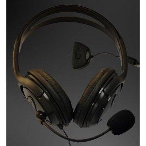 Gadgetwarehouse & # 153; Xbox 360Elite gran estilo auriculares (auricular y micrófono) para Xbox 360Juegos en línea con piezas de almohadillas de espuma para mayor comodidad y micrófono con brazo ajustable y el volumen–Negro
