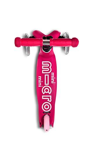 Micro Mobility - Trottinette Mini Deluxe Rose - Trottinette Enfant au Design Original - Apprentissage de l'équilibre en Douceur - De 2 à 5 Ans - Rose
