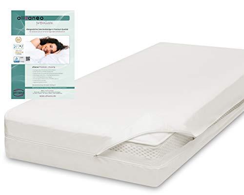 allsaneo Premium Encasing Matratzenbezug 90x200x24 cm, Allergiker Bettwäsche extra weich und leicht, Anti-Milben Zwischenbezug für Matratze