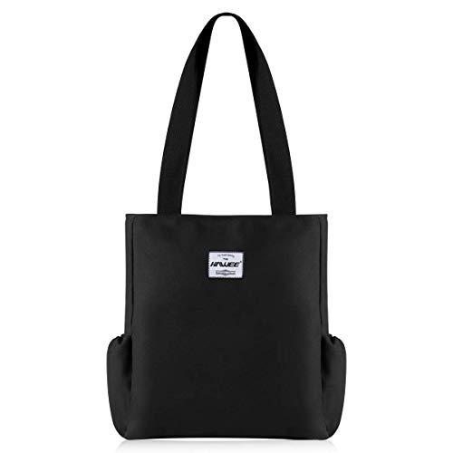 HAWEE Mode Damen Handtasche mit Reißverschluss Casual Frauen Schultertasche Umhängetasche Groß Einkaufstasche Wasserdicht Henkeltasche für die Reise Arbeit Schule Tägliches Leben Gym Camping Strand