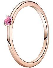 Pandora Colours rosafärgad solitärring i 14 karat roséguld sterlingsilver med rosa zirkon/ring storlek 52
