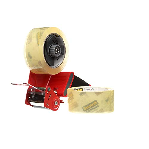 Scotch Commercial Grade Shipping Tape, 2 Rolls of Tape, 1 Dispenser (3750-2-ST) Photo #4