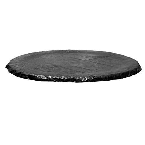 Uayasily Cubierta Protectora Cama Elástica, UV Y Resistente Cubierta De Cama Elástica Impermeable con Malla Escurrir Negro 3.05m