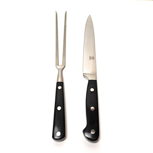 Chef G Quality Stainless Steel Carving Knife and Fork Set for Home, Restaurant, Outdoor Grilling