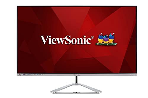Viewsonic VX3276-4K-MHD 80 cm (32 Zoll) Design Monitor (4K UHD, HDR, HDMI, DP, mDP, Eye-Care, Eco-Mode, Lautsprecher, 3 Jahre Austauschservice) Silber-Schwarz