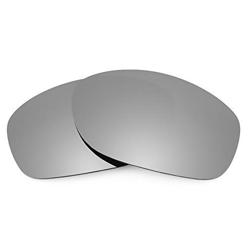 Revant Lentes de Repuesto Compatibles con Gafas de Sol Oakley Pit Bull (Ajuste Asiático), Polarizados, Titanio MirrorShield