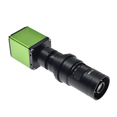 /G Cámara de microscopio de Video Digital HD 1080P 1/2 Pulgada Lupa óptica HDMI Reparación de Placa Base de teléfono Detección de Metales y Lente de Montura C 200X