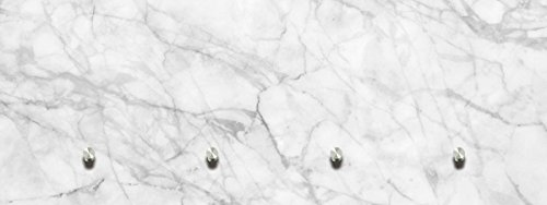 Eurographics Glasbilder Garderobe 30x80cm (White Marble Texture)