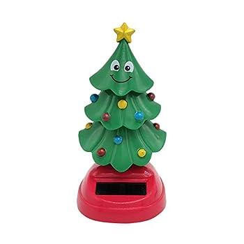 Activane Solar Dancing Christmas Tree Toy Swinging Toy Christmas Decoration Car Interior Decor Kids Toys Gift