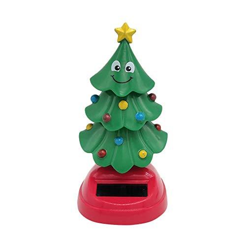 Easy-topbuy Juguetes Y Figuras Solares Árbol De Navidad Dashboard Adornos Juguete De Baile Solar, Coche Y Decoración del Hogar