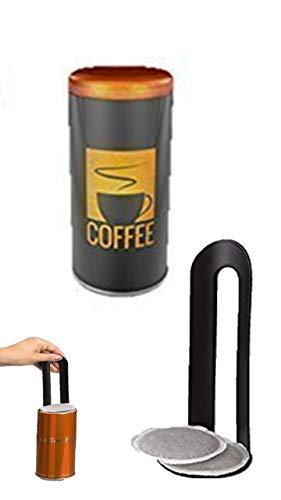James Premium Kaffee Coffee Pad Dose Kaffeepaddose Aufbewahrungsdose Küchendose Pad-Dose Kaffeedose