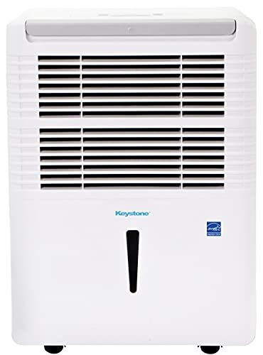 Keystone 22-Pint Dehumidifier with Electronic Controls in White, 30