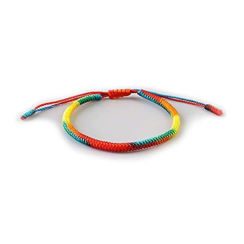 EXINOX Tibetaanse armband met spirituele armband voor mannen en vrouwen, handgemaakte armband, traditionele boeddhistische knoppen, positieve energiechakra's