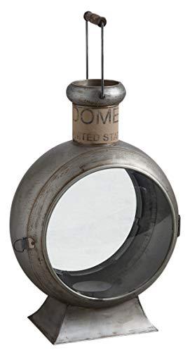 Grande lanterne ronde sur pied en métal 35 x 25 x 55 cm
