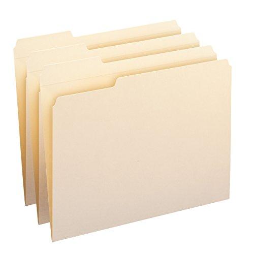 Smead File Folder, Reinforced 1/3-Cut Tab Left Position, Letter Size, Manila, 100 Per Box (10335)