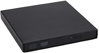 ZSTBT USB 2.0 External Portable CD-RW DVD ROM Combo Burner Drive for Laptop Notebook PC Desktop Computer(Black)
