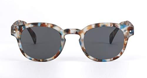 Izipizi Rx Reader Sunglasses C-Frame   Blue Tortoise Grey - Rx +0.00