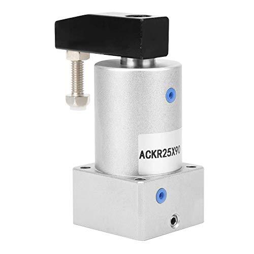 Fafeicy Cilindro neumático rotativo, ángulo de 90 grados, herramienta de giro de aire de presión de esquina de sujeción(ACK25-90R)