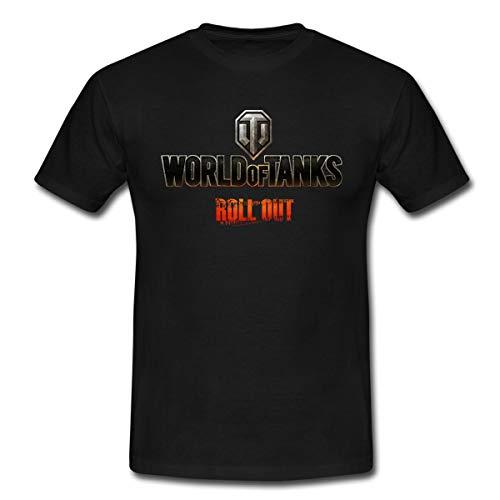 World of Tanks Logo WoT Roll Out Männer T-Shirt, L, Schwarz