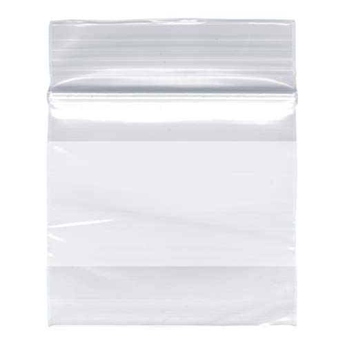 Plymor Zipper Reclosable Plastic Bags w/White Block, 2 Mil, 12″ x 15″ (Case of 1000)