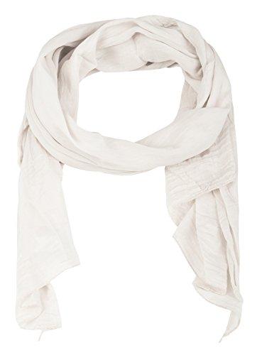 Cashmere Dreams Seiden-Tuch im Uni Design - Hochwertiger Schal für Damen Mädchen - Halstuch - Umschlagstuch - Loop - weicher Schlauchschal für Sommer Herbst und Winter Zwillingsherz - weiß
