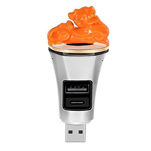 Dcolor Universal USB Purificador de Aire PortáTil Difusor de Aroma Carga con Puerto USB para Office Home Car E
