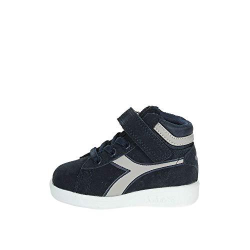 Diadora Game S High TD, Chaussures de Gymnastique Mixte Enfant, Multicolore (Blu Profondo/Grigio Paloma C6125), 23.5 EU