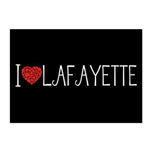 Teeburon I Love Lafayette Cool Style Sticker Pack x4 6'x4'