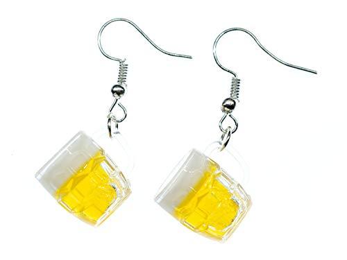 Miniblings Pendientes de jarra de cerveza, hechos a mano, jarra de cerveza...