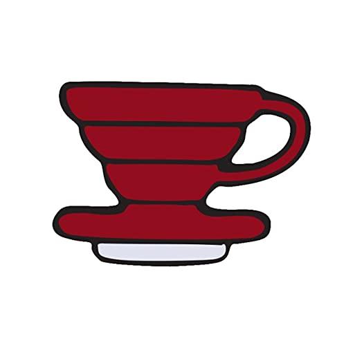 GOY Pasadores de esmalte taza de té tetera cafetera broches metal para mujeres hombres solapa Pin ropa insignias joyería accesorios