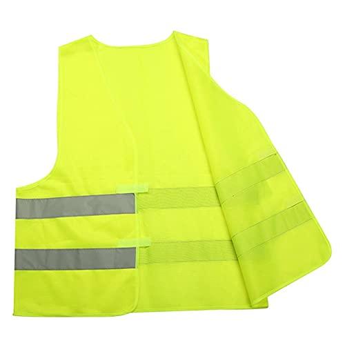 HNZZ Resalte Correas Reflectantes Noche Corriendo Ropa Ropa Chaleco Chaleco de Seguridad Ajustable Banda elástica para Adultos y niños (Color : Green)
