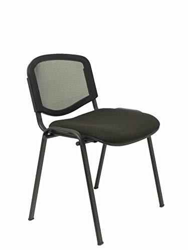 Piqueras Y Crespo (PIQU7) Pack 4 sillas Garaballa Malla arán Oficina, Negra/Negro, Talla Unica