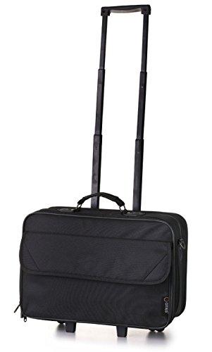 Aerolite Trolley, Computer portatile borsa carrello Su ruote 44 cm, 23 L, Nero