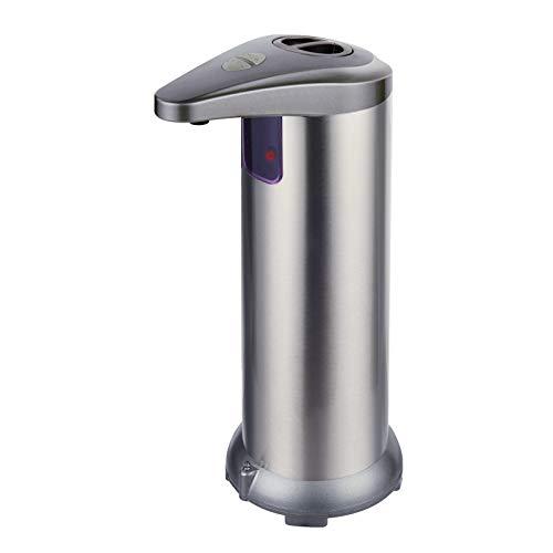 AYUNK Dispensador Automático de Jabón con Acero Inoxidable, Sensor de Movimiento por Infrarrojos, Base Impermeable IPX4, Interruptor Ajustable, para Baño, Cocinas, Hotel, Restaurante