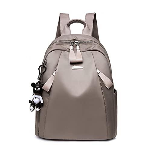 OKAYOU 牛ダブルショルダーバッグレディーススクールバッグ女子大生ヘッドフォン穴付きファッショナブルなキャンバスバックパック