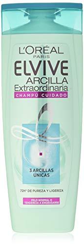 L'Oréal Paris Elvive Argile Extraordinaire Shampooing Soin pour Cheveux Normaux Ou Tendance à Engraisser 285 ml - Lot de 6