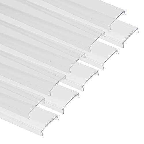 Muzata Strip LED Transparent Cover Clear Lens Diffuser for U1SW,Matching Most U-Shape LED Light Aluminum Channel in The Market 10 PACK-1M/3.3ft LC03 TT 1M, LA1