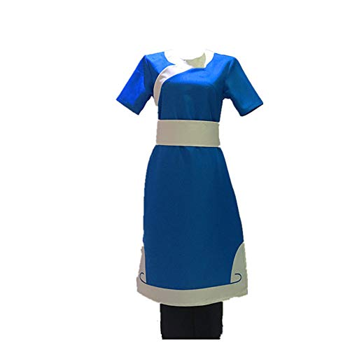 Avatar The Last Airbender Katara Cosplay Kostüm, individuell gefertigt - Blau - Large